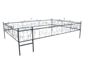 Памятники, ограды, скамейки, столики